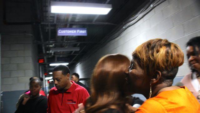 Iyanla and Tina Campbell backstage at Transformation 2016