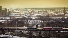 A snowy day in Richmond Virginia