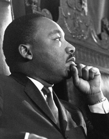 Martin Luther King Jr. Before a Speech