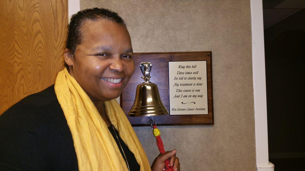 Sheilah Belle rings the bell