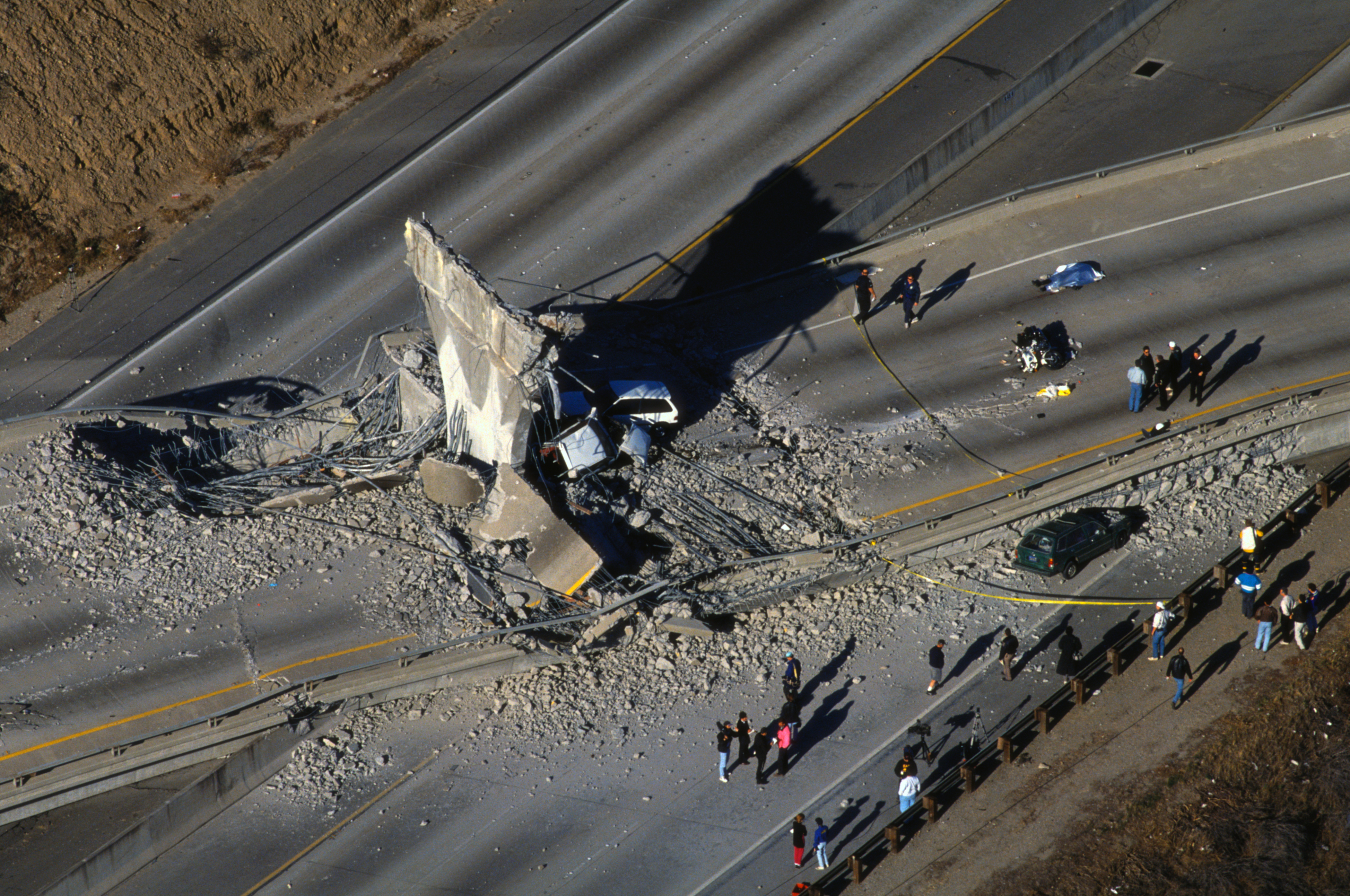 Earthquake Damage to Los Angeles Freeway
