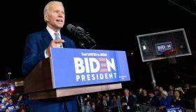 Joe Biden Super Tuesday Rally in Los Angeles, US