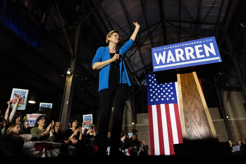 Elizabeth Warren Rally in Detriot, US