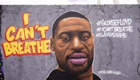 George Floyd mural in Berlin streets