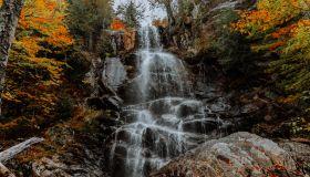 Hiking in the Adirondack Mountain in the fall